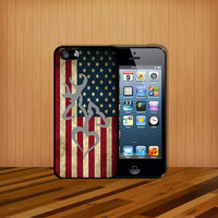 American Browning Deer Flag USA For case iPhone 4 4S iPhone 5 5S 5C and Samsung Galaxy S3 S4 Case