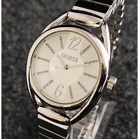 GUESS loves watch simple creative bar wrist watch personality trend quartz watch Silver