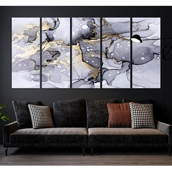 Marble Abstract Large Wall Art Canvas Print