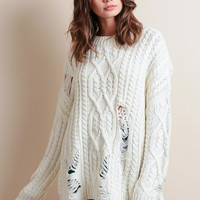 Ransom Distressed Knit Sweater By JOA