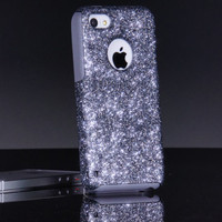 iPhone 5c Case - Otterbox Custom Smoke/Grey Glitter - Otterbox Commuter iPhone 5c Sparkly Bling Glitter Case
