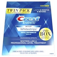 Crest 3D White Whitestrips Professional Effects,Twin Pack, 40 Treatments - Walmart.com