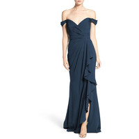 Off the Shoulder Silk Gown