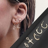 Sale 1 set Simple Golden Dangle Earrings for Women Jesus Cross Drop Earrings Oorbellen boucle d'oreille brincos pendientes
