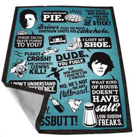 Supernatural Quote Collage for Kids Blanket, Fleece Blanket Cute and Awesome Blanket for your bedding, Blanket fleece *02*