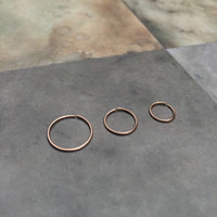 Rose gold cartilage earring, 22g little nose ring, Septum hoop earring 6mm Rose gold forward helix earring hoop 8mm 14k gold tragus hoop 20g