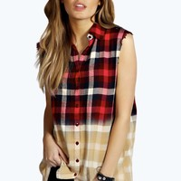 Rebecca Ombre Check Sleeveless Shirt