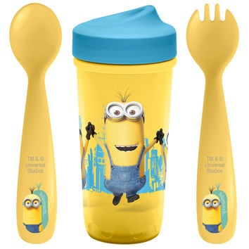Zak! Designs Despicable Me 2 Flatware and Sippy Cup Set