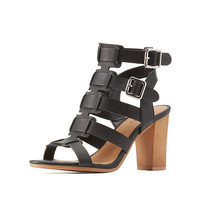 Qupid Strappy Buckled Dress Sandals