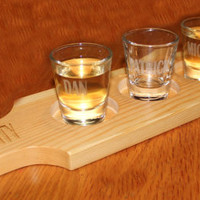 Bachelor party novelty,  shot glass paddle,  gift for groom,  groomsmen gift,  shot glass holder,  personalized groomsmen gift