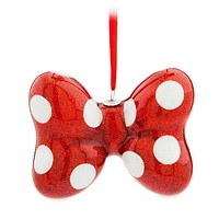 Disney Parks Holiday Christmas Minnie Bow Ornament New with Tags
