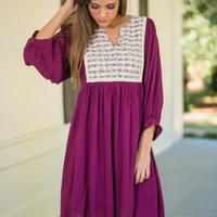 World Tour Dress, Plum