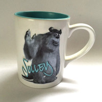 Disney Pixar Sulley Mug Blue White Monsters Character Large Coffee Cup