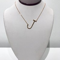 Stella Initial Necklace: Gold