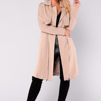 Danielle Trench Jacket - Taupe