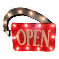 Open Marquee Light Sign