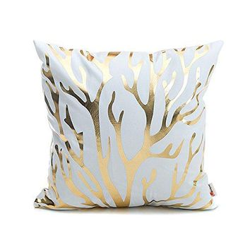 Coral Reef Ocean Throw Pillow Cover Decoration Sofa Bedroom Accent Pillow 18x18