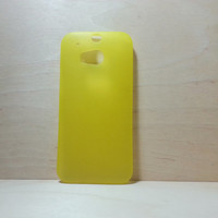 HTC One M8 super slim hard plastic case - Frosted Yellow