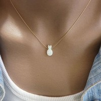 Opal Pineapple Pendant Necklace - New to Store!