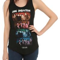 One Direction Color Boxes Girls Tank Top