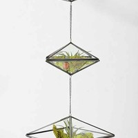 Magical Thinking Triple-Tiered Geo Hanging Terrarium - Silver One