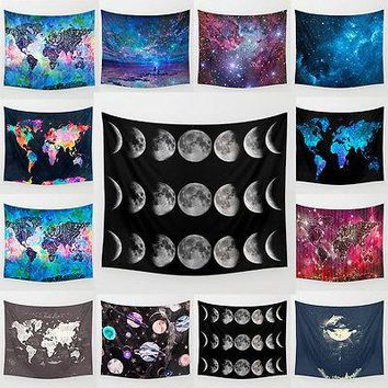 Cosmos Galaxy Hippie Hanging Polyester Retro Wall Tapestry Bedspread Home Decor