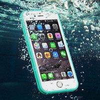 New Shockproof Dustproof Underwater Diving Waterproof 360 Full Cover Phone Cases Cover For iPhone 7 iPhone 5S 6 6S 6 Plus 4.7 5.5 inch+ Nice Free Box