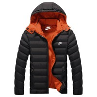 Nike Women Men Fashion Casual Hooded Cardigan Jacket Coat Windbreaker-1