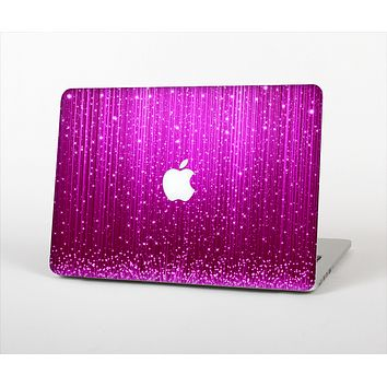 """The Abstract Pink Neon Rain Curtain Skin for the Apple MacBook Pro 15"""""""