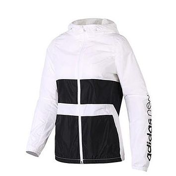 Trendsetter ADIDAS Hooded Zipper Cardigan Sweatshirt Jacket Coat Windbreaker Sportswear