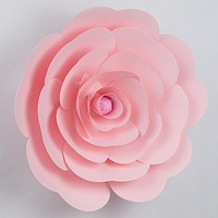 "BLOWOUT Premium Giant 16"" Pre-made Light Pink Ranunculus Paper Flower Backdrop Wall Decor for Weddings, Photo Shoots, Birthday Parties and more"