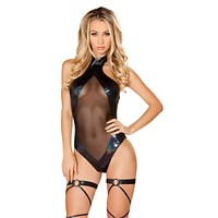 Sexy Techno Summerfest Romper with Sheer Panels
