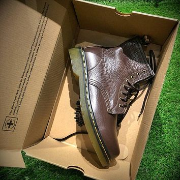 Newest Dr. Martens Modern Classics 1460 Retro Brown Leather Boots 524952