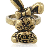 Ring, retro style rabbit ring, Easter bunny ring, gift for girlfriend
