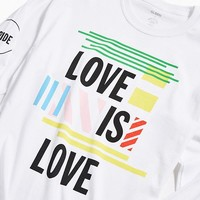UO Community Cares + GLSEN Pride 2018 Long Sleeve Tee | Urban Outfitters