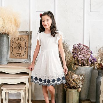 Floral Embroidered Fit&Flare Dress(toddler/girl)