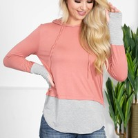 Rosy Brown Hoody Pullover