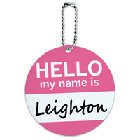 Leighton Hello My Name Is Round ID Card Luggage Tag