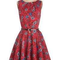 Closet Mid-length Sleeveless Fit & Flare Luck Be a Lady Dress in Blossom