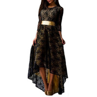 Women Long Sleeve Maxi Party Dress Formal Sexy Club Irregular Dresses with Belt L-XXXL 4 Colors UBY