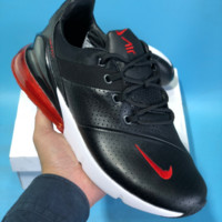 HCXX N556 Nike Air Max 270 Leather Breathable Running Shoes Black Red