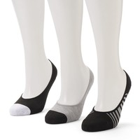 SO 3-pk. ''Flawless'' Performance No-Show Liner Socks - Women, Size: 9-11 (Blue)