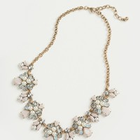 Haley Blush and Pearl Crystal Statement Necklace