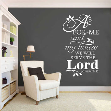 Serve Lord Vertical Decal | Vinyl Wall Lettering | Religious Decal