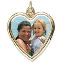 Large Heart Charm In Yellow Gold
