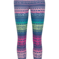 Multi Color Tribal Legging