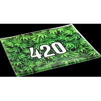 420 Green Glass Tray - Shatter Resistant