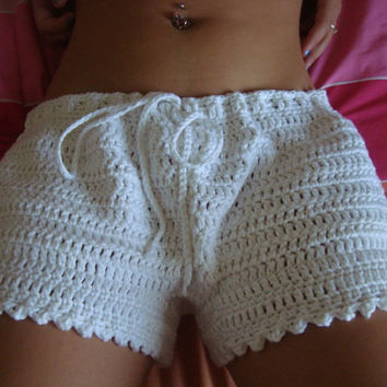 Crochet Women Boy Shorts  - Size XS, S, M  - Spring - Summer - Vacation - Mothers Day - Gift for Her
