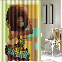 Don't Fear The Fro!  Flaunt the Pretty!Waterproof  Shower Curtain