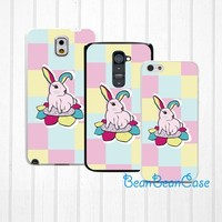Cute bunny rabbit case for iPhone 6 iPhone 4/4s/5/5s/5c, Samsung S5/Note4, Sony, LG Nexus, Nokia Lumia, HTC One M7/M8, Moto E (N02)